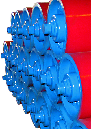 Polyurethane-coated Trough and Return Rollers